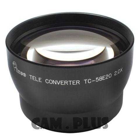 PIXCO 52mm 2.0X Tele-Photo Lens (Silver) For Canon Nikon Sony Olympus Pentax Panasonic