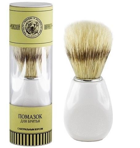 Помазок для бритья белый | Клеона