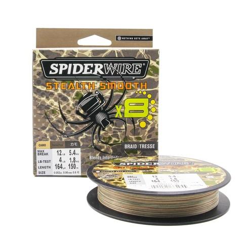 Плетеная леска Spiderwire Stealth Smooth 8 Braid Камуфляжная 150м 0,06мм 5,4кг