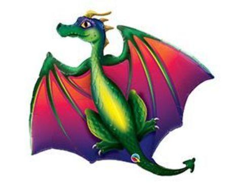 Фольгированный шар Дракон летящий