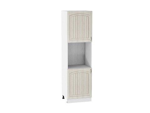 Шкаф пенал под бытовую технику с 2-мя дверцами 600 Верона L (Ясень золото)