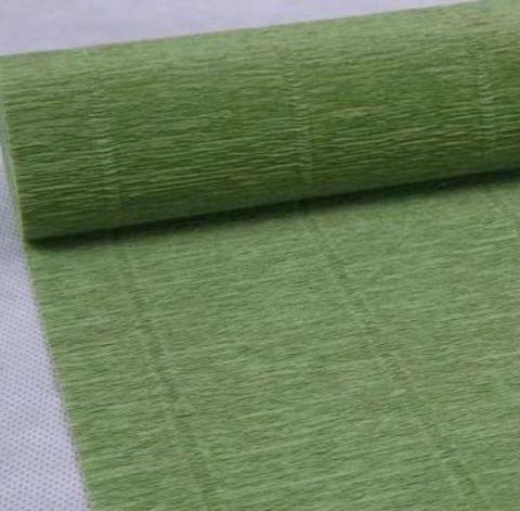 Бумага гофрированная, цвет 562 фисташковый, 180г, 50х250 см, Cartotecnica Rossi (Италия)
