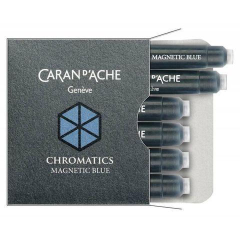 Картридж Carandache Chromatics (8021.149) magnetic blue для перьевых ручек 6шт в уп