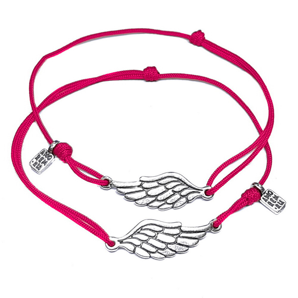 Paired Wings Bracelet, sterling silver