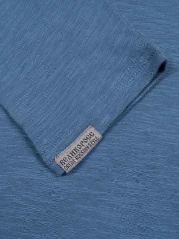 Long-sleeved crewneck navy t-shirt