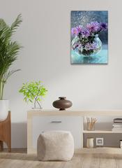 Картина на стекле/ Картина интерьерная/ Картина на стену Букет цветов, 40х28см