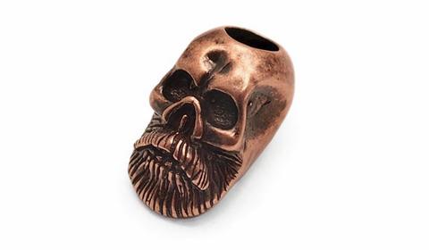 Бусина для темляка Бородатый череп PTB16B