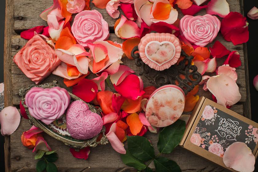 Мыло в виде цветов. Форма Роза
