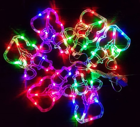 Снежинки декоративные новогодние LED гирлянды