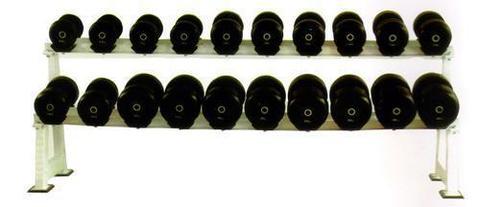Обрезиненный гантельный ряд из 10 пар – от 51 до 81кг с шагом 2.5 кг