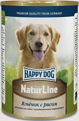 Консервы для собак Happy Dog NaturLine, ягненок  с рисом
