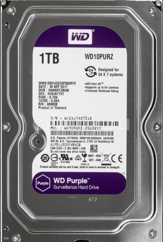 Жесткий диск WD Purple [WD10PURZ] 1 ТБ