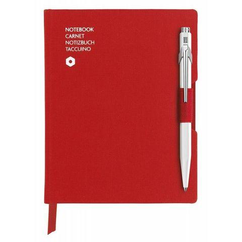Записная книжка и ручка Carandache Office (8491.453) A6 192стр красная и ручка 849 белая