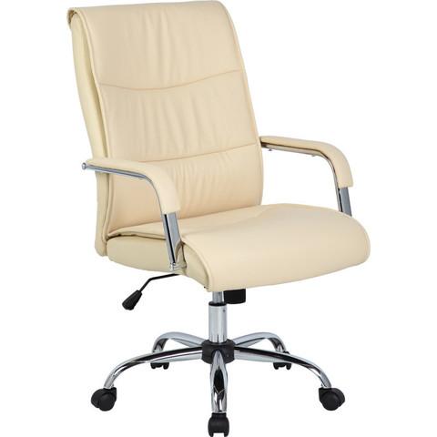 Кресло для руководителя Easy Chair 509 TPU бежевое (искусственная кожа/металл)