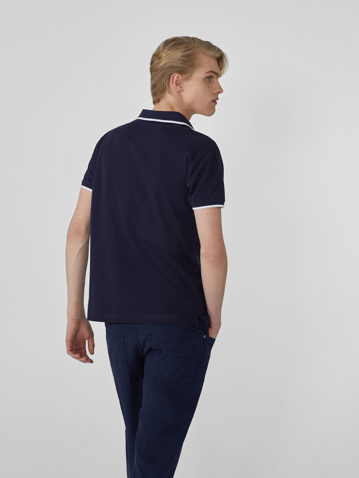 Trussardi Jeans Поло с V-образным вырезом
