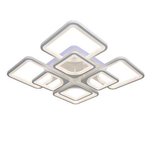 Потолочная светодиодная люстра NL-6604/4+4 WT+RGB