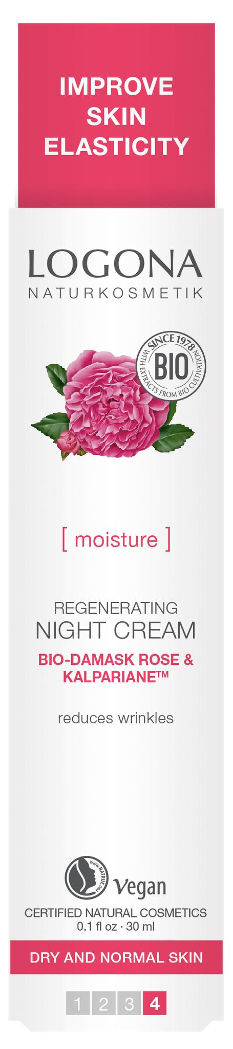 LOGONA Ночной крем для увлажнения и регенерации кожи с Био-Дамасской Розой и комплексом Kalpariane