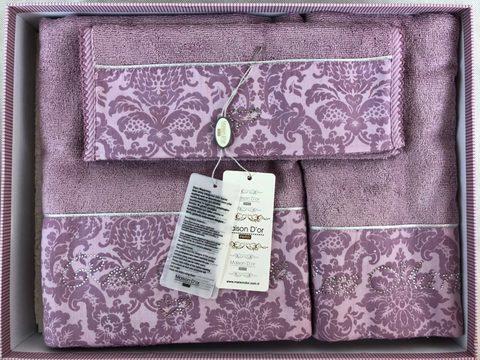 Набор полотенец  ROSE MARINE - РОЗ МАРИН 3пр  30х50 50х100 и 75х140 Maison Dor (Турция)