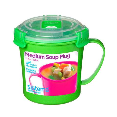 Кружка суповая Microwave 656 мл, артикул 21107, производитель - Sistema