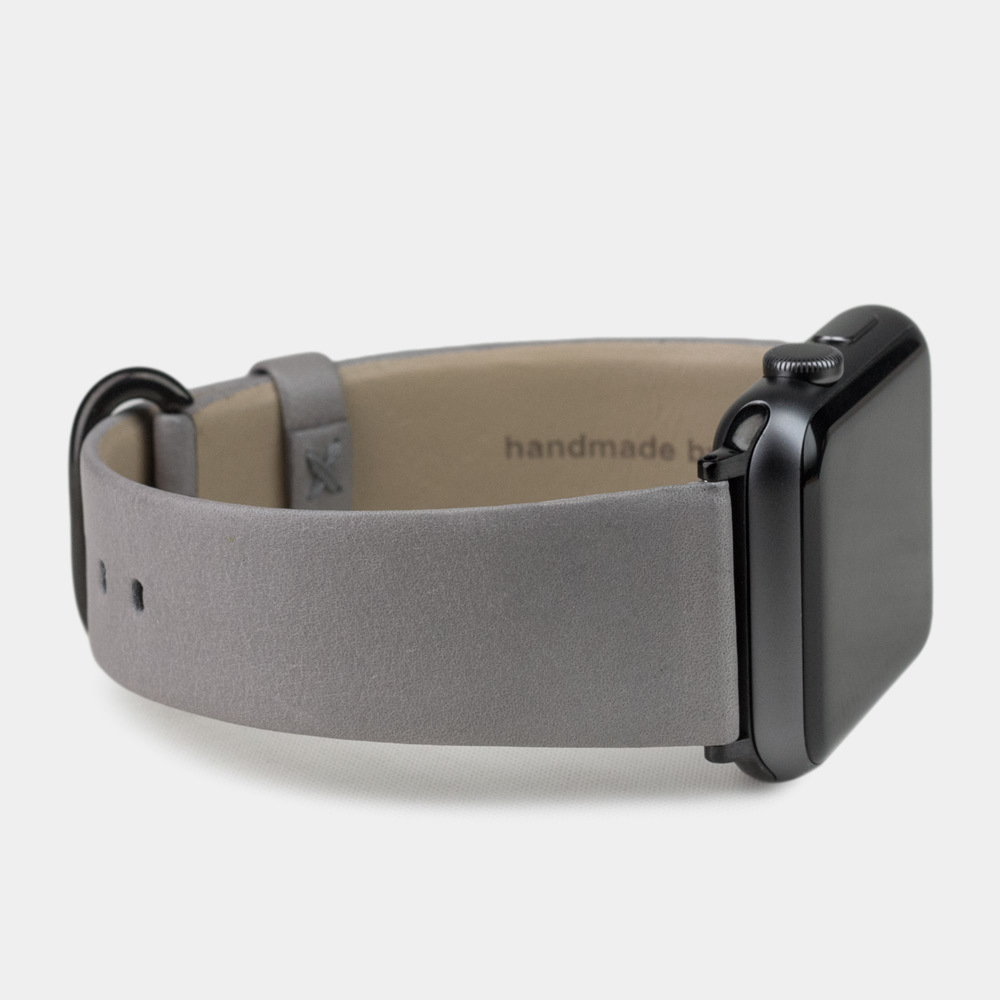Ремешок для Apple Watch 42/44мм ST Classic из натуральной кожи теленка, светло-серого цвета