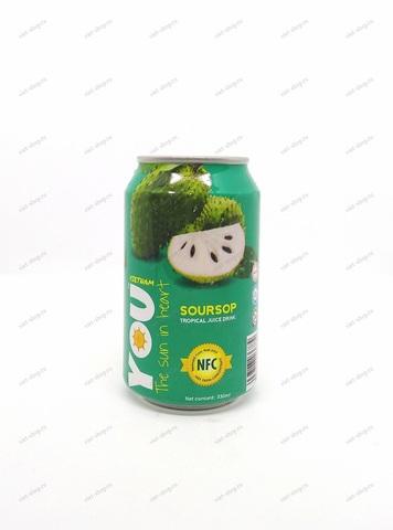 Вьетнамский напиток с соком анноны, You Vietnam, 330 мл.