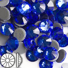 Стразы горячей фиксации клеевые стеклянные термостразы Sapphire Сапфир синий на StrazOK.ru