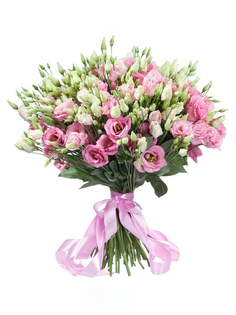 Букет из 45 розовых эустом