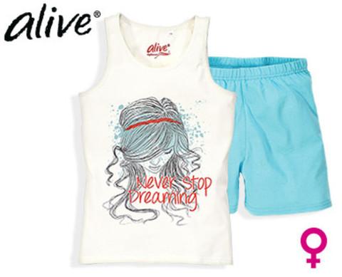 Комплект для девочки Alive майка + шорты