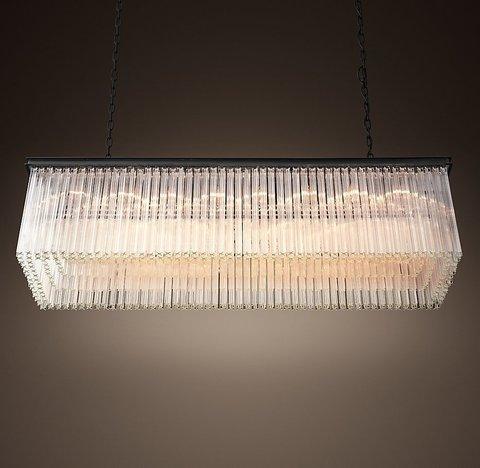 Подвесной светильник копия 1930S Astor Crystal Rectangular Chandelier 59