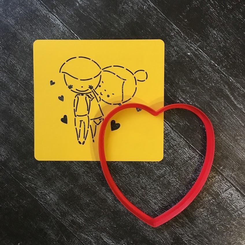 Трафарет любовь №5 Влюбленная пара