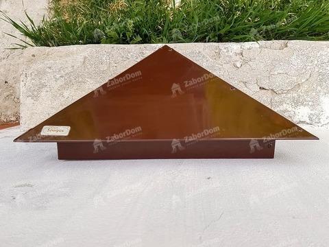 Колпак металлический на столб Эконом RAL 8017