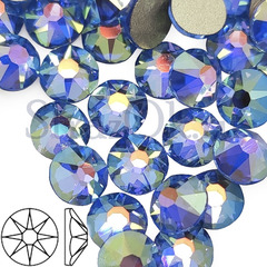 Купить стразы холодной фиксации Xirius 8+8 Light Sapphire AB