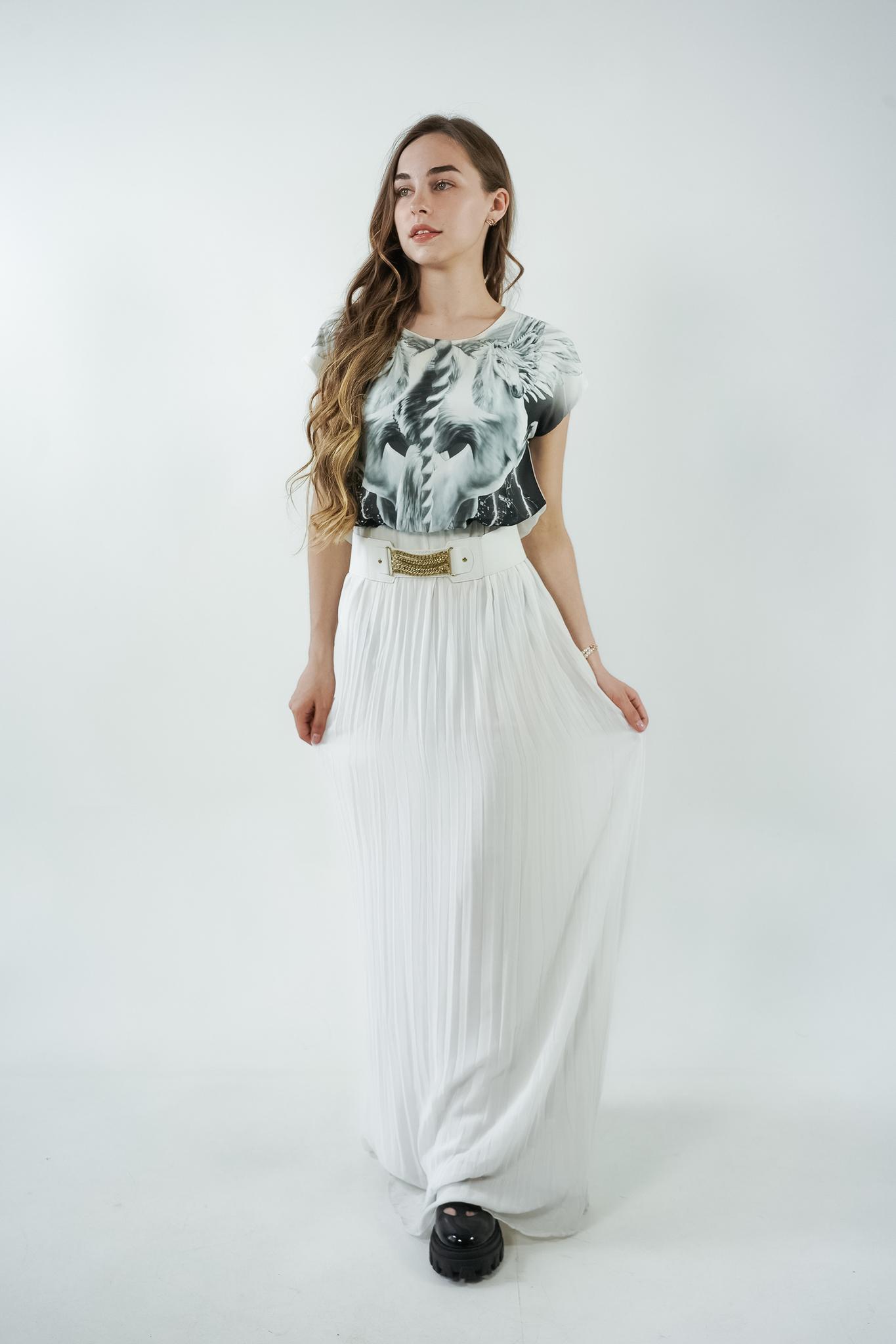 Платье с принтом макси
