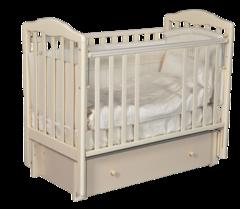 Детская кроватка ALITA 4/6 маятник с ящиком