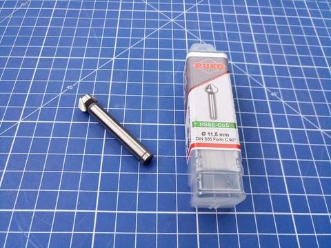 Зенковка ц/х 90° 11,5мм HSSE-Co5 3z DIN335C L56мм d8мм M6(AF) Ruko 102115E (В)