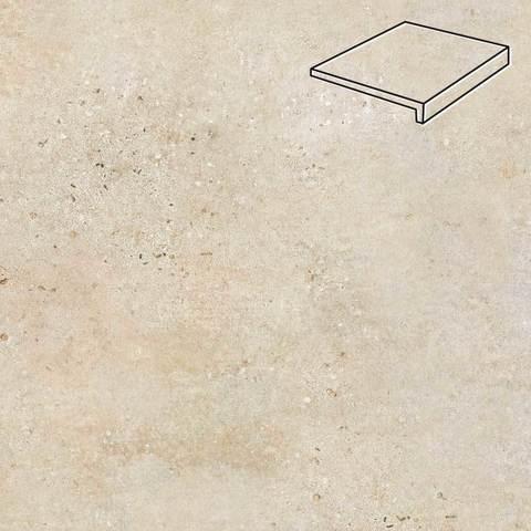Stroeher - Gravel Blend 960 beige 294x175x52x10 артикул 4817 - Клинкерная ступень, прямой угол