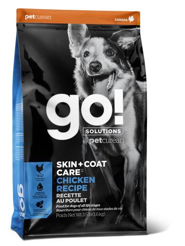GO! SKIN + COAT CARE - для щенков и собак с цельной курицей, фруктами и овощами