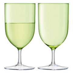 Набор из 2 бокалов для воды и вина Hint, 400 мл, зелёный, фото 1