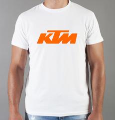 Футболка с принтом KTM (KTM AG) белая 003