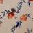 Телесно-персиковый шёлковый жаккард с редкими бутонами