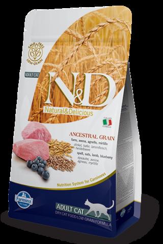 Сухой низкозерновой корм Farmina N&D Low Grain Cat Lamb&Blueberry Adult