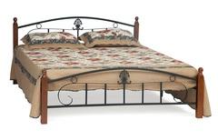 Кровать Румба (200x120) Черный/Красный дуб