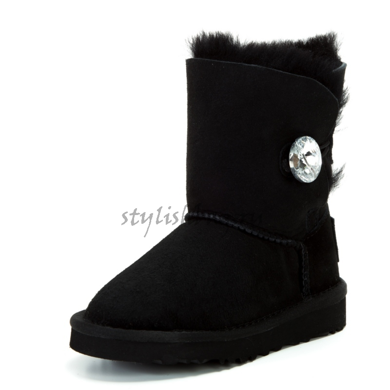 Детские угги UGG Australia Bailey Button Bling Black