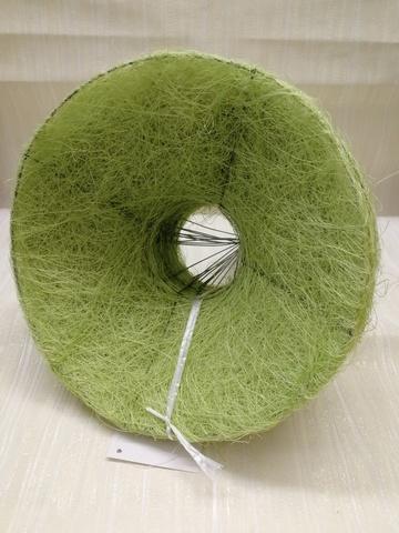 Каркас для букета гладкий (сизаль, диаметр: 15 см) Цвет: салатовый