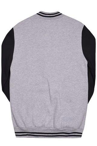 Бомбер серый с черным фото сзади
