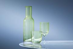 Набор из 2 бокалов для воды и вина Hint, 400 мл, зелёный, фото 2
