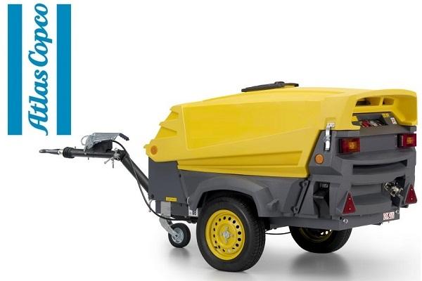 Компрессор дизельный Atlas Copco XAS 67 Generator на шасси с регулируемым дышлом и генератором