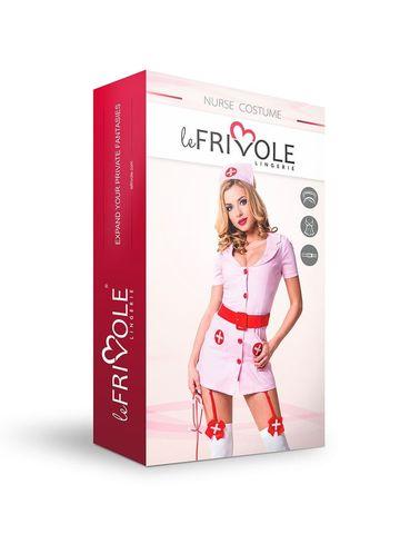 Эротический костюм для ролевых игр Le Frivole Похотливая медсестра розовая, размер M