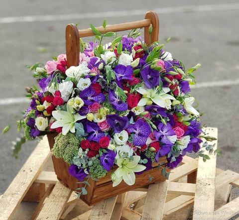 Ящик с цветами VIP 2
