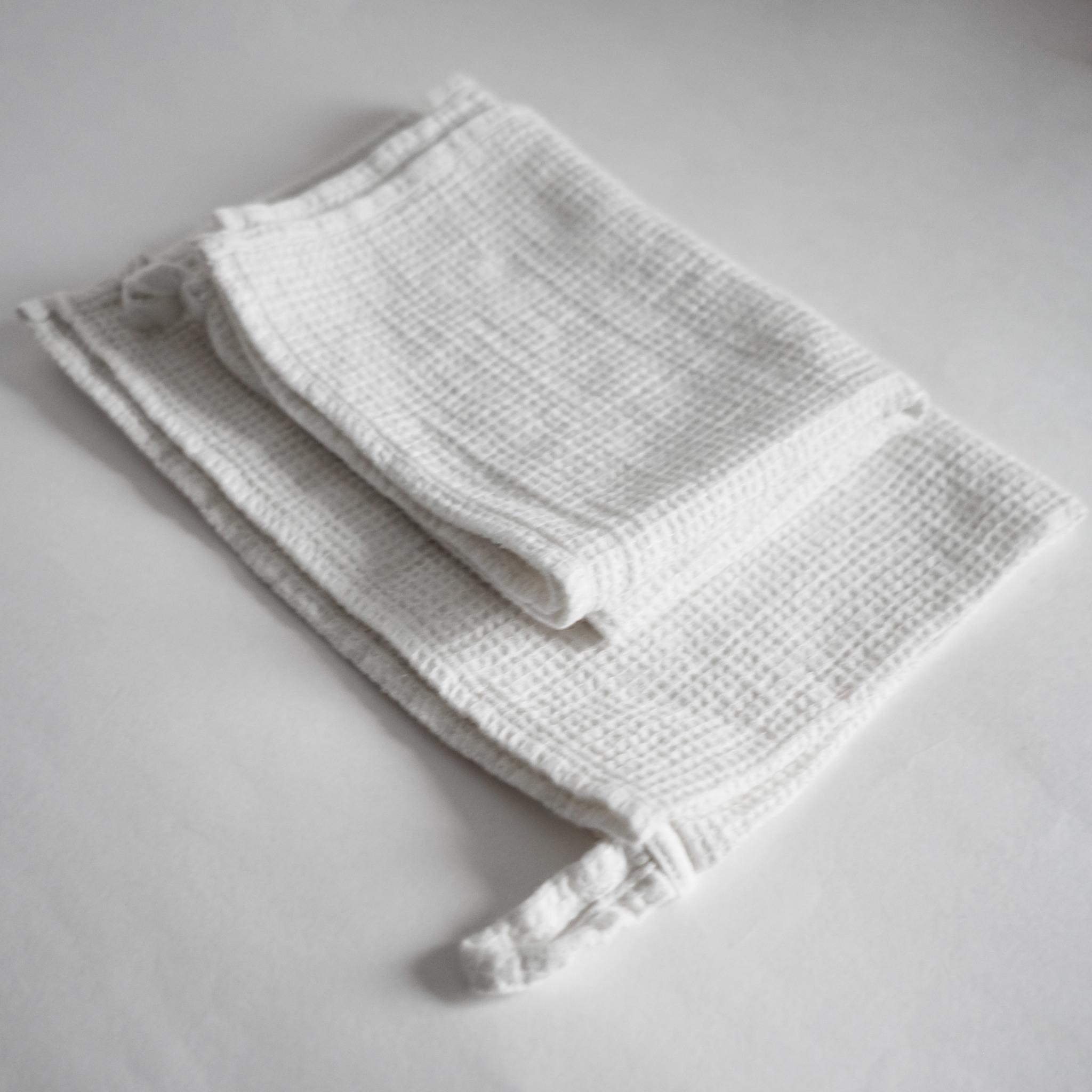 Вафельное полотенце из умягченного льна